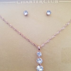 Brand New Charter Club Earrings and Pendant Set